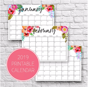 Printable Calendar for Moms