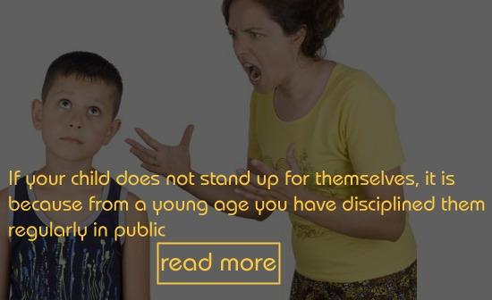 Praise in Public & Punish in Private