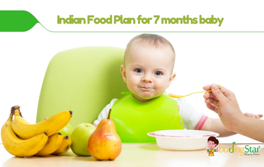 Indian Diet Plan for 7 Months Old Baby