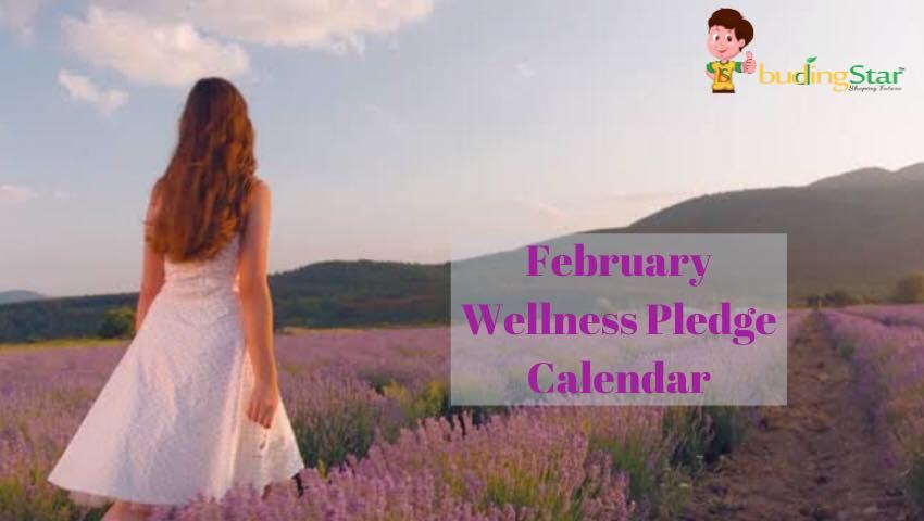 February Wellness Pledge Calendar
