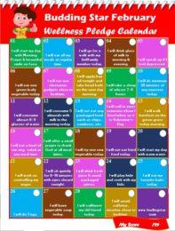 Budding Star Wellness Pledge Calendar