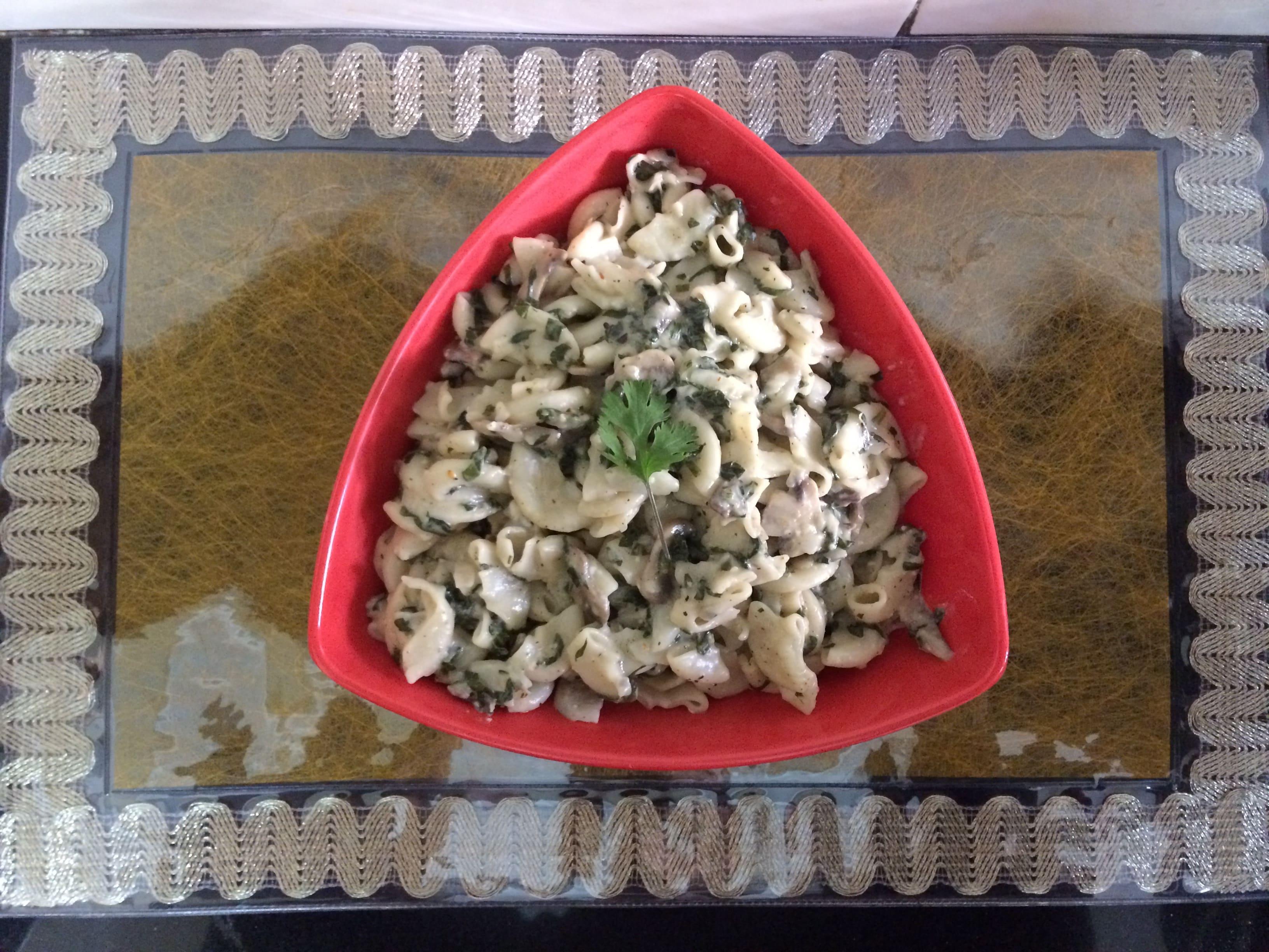 Spinach-Mushroom-Macroni